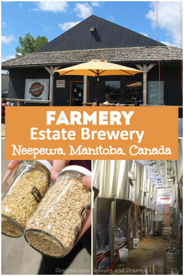 Farmery is the first estate craft beer brewery in Canada. It offers tours of its brewery in Neepewa, Manitoba where beer is brewed from its own farm-grown barley and hops. #Canada #Manitoba #neepewa #beer #craftbeer #estatebrewery