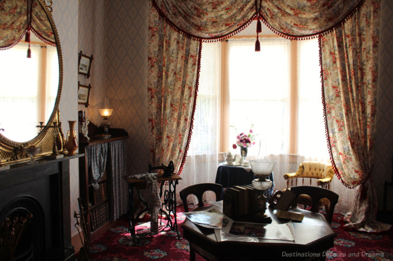 Drawing room at Ross Bay Villa restored to the late 1800s