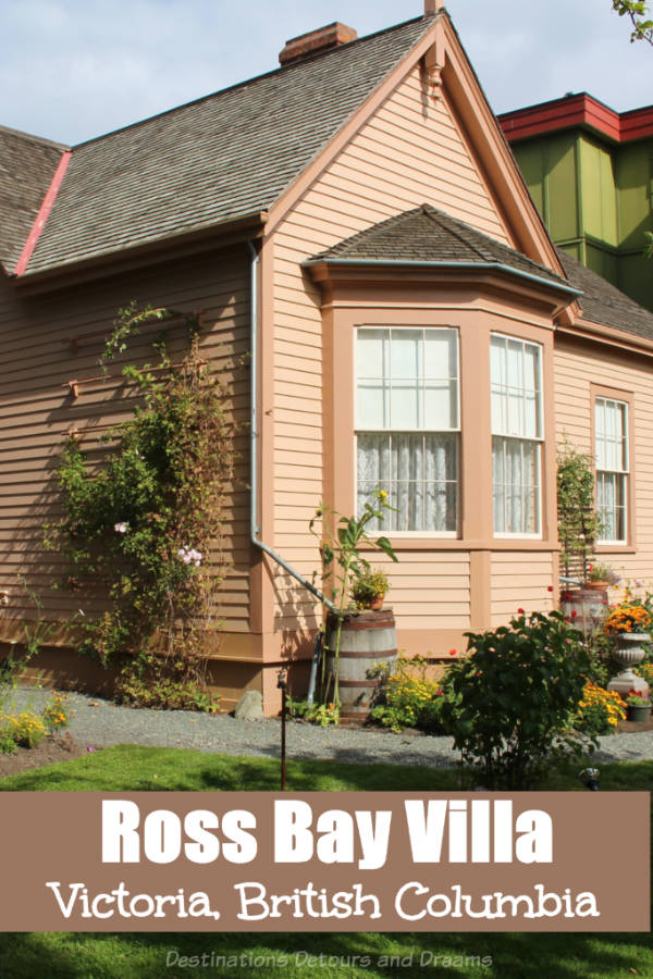 Ross Bay Villa historic house museum in Victoria, British Columbia, meticulously restored by volunteers to recreate the period of 1865 to 1879 #Victoria #BritishColumbia #Canada #history #museum