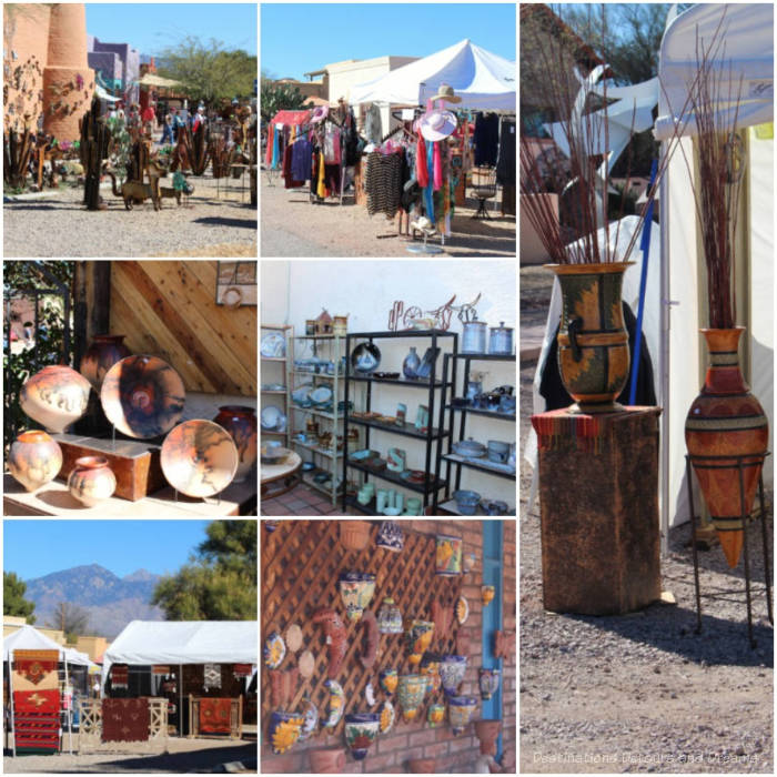 Sample of the type of art and artisan products at the Tubac Festival of the Arts