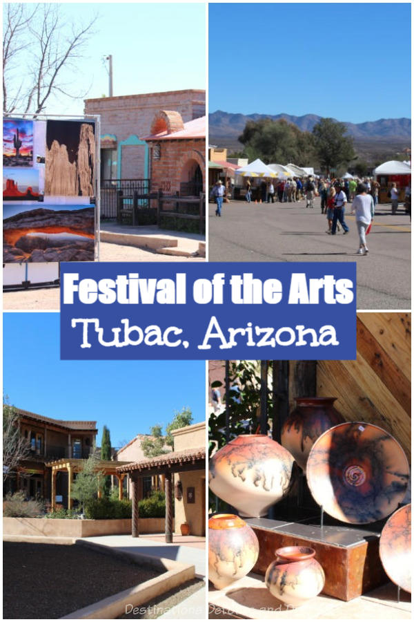 Tubac, a small colourful town in southern Arizona known for its artist community, hosts an annual Festival of the Arts. More arts and crafts found in shops in this town filled with history. #Arizona #history #Tubac #art #festival