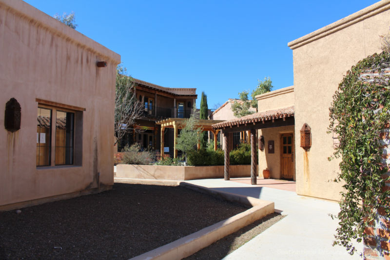 Adobe buildings at Artist Row in Tubac, Arizona