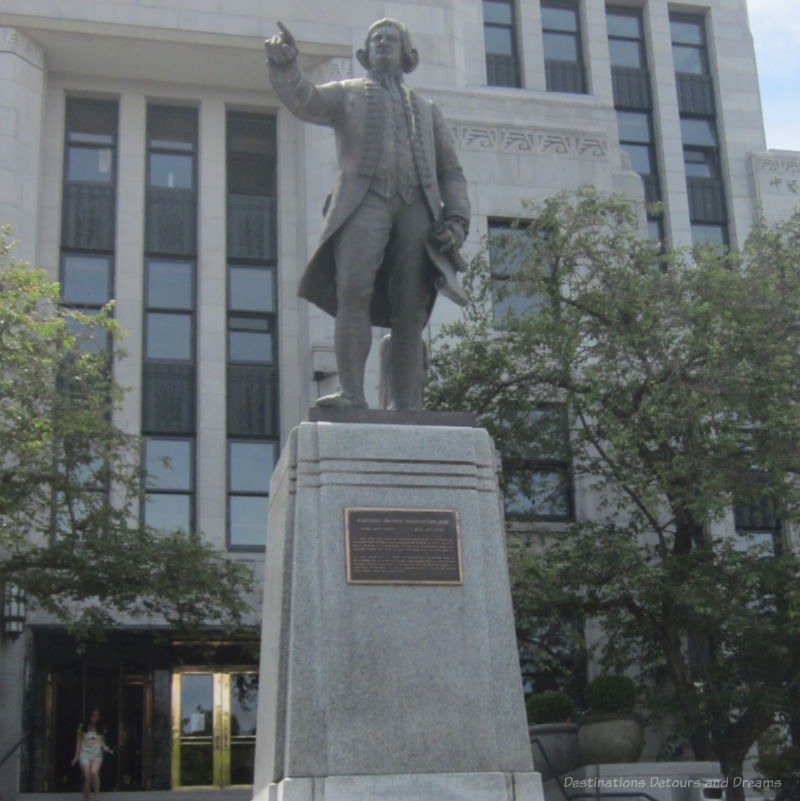 Bronze statue of Captain George Vancouver