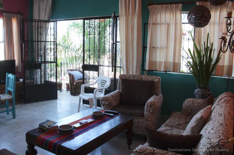 A Latin-themed living room in a Puerto Vallarta Airbnb