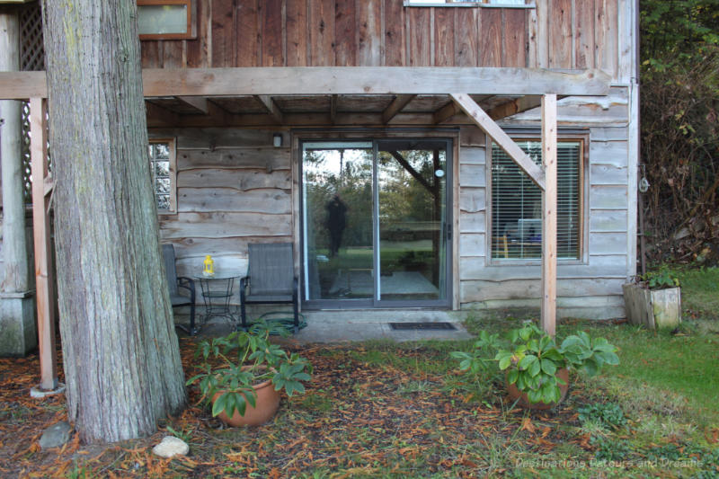 Rustic wooden building surrounded by woodland