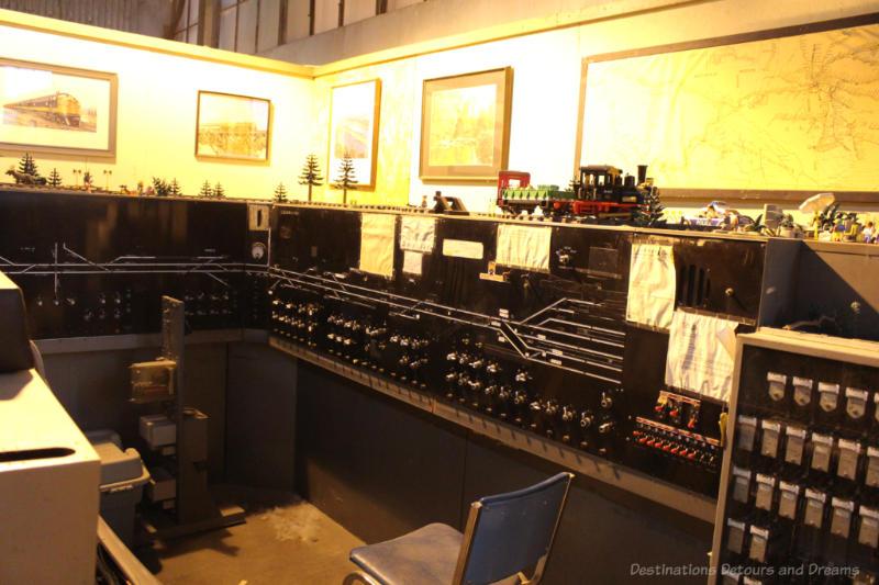 Morse Telegraph display at the Winnipeg Railway Museum
