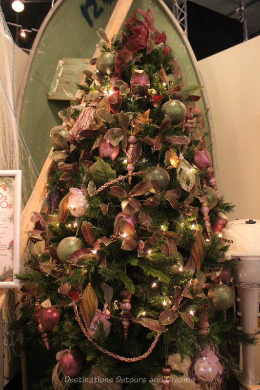 Christmas tree with pinks and light green ornaments