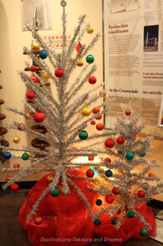 1960s and 1970s era sliver aluminum Christmas tree