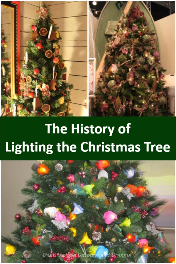 The History of Light the Christmas Tree - A Christmas Glow exhibit at the Manitoba Electrical Museum in Winnipeg, Manitoba highlights the history of Christmas tree lights and decorating #Christmas #Manitoba #museum