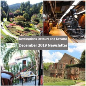 Destinations Detours and Dreams December 2019 Newsletter