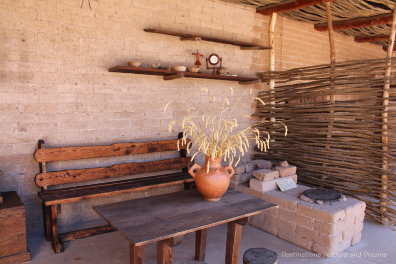 Outdoor cooking area at Tubac Presidio