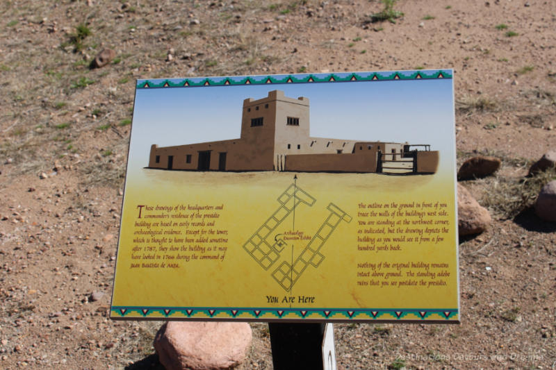 A diagram at Tubac Presidio State Historic Park shows what the presidio looked like in the late 1700s