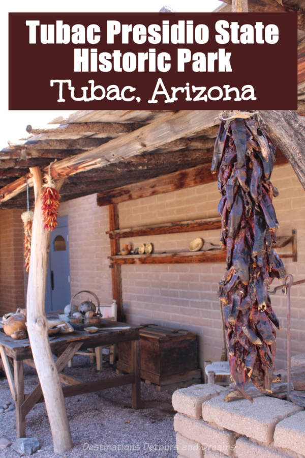History Lives at Tubac Presidio. A former Spanish fort in Tubac, Arizona is now a state historic park showcasing Arizona history. #Arizona #Tubac #history #museum