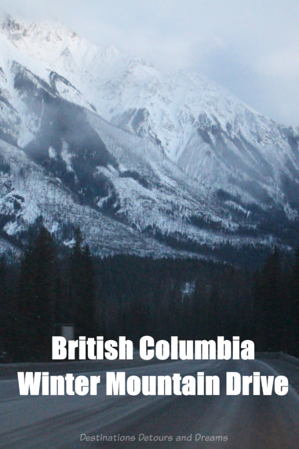 British Columbia Winter Mountain Drive: Photographs of a winter's drive through the mountains of British Columbia, Canada #Canada #BritishColumbia #ExploreBC #roadtrip #winter