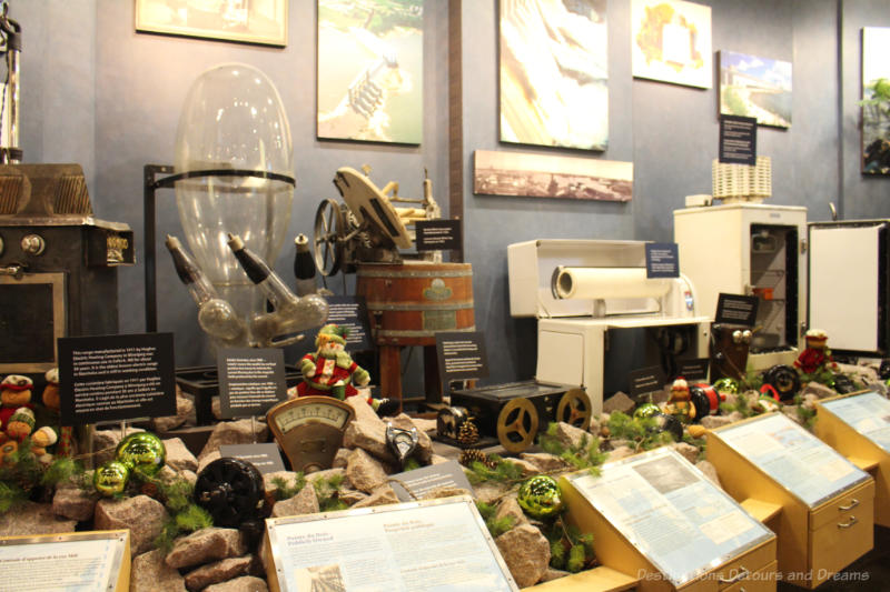 A display of electrical appliances and items at the Manitoba Electrical Museum