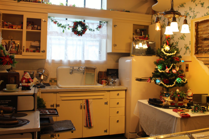 Kitchen circa 1940s and 1950s on display at Manitoba Electrical Museum