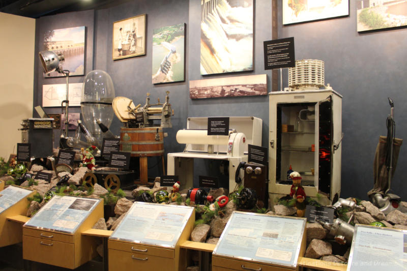 Display of appliances at Manitoba Electrical Museum