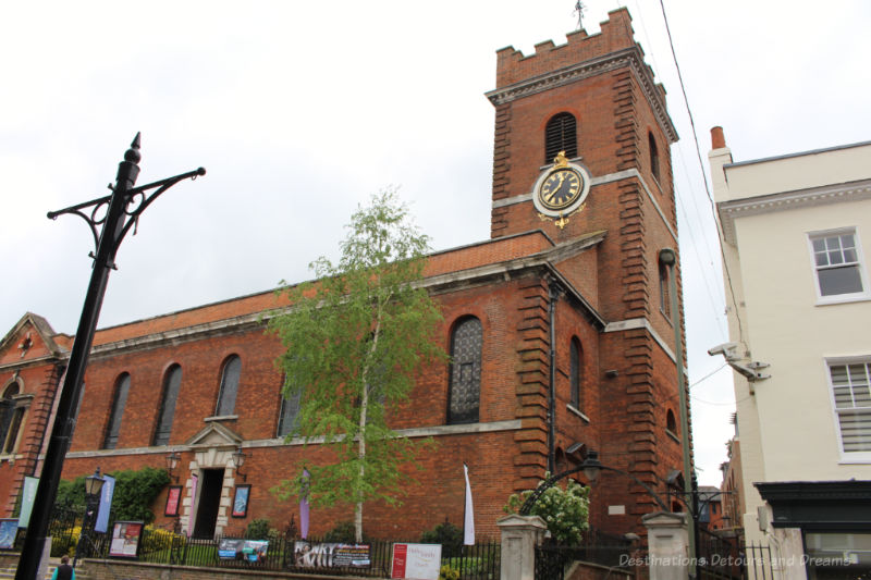 red brick Holy Trinity Church in Guildford