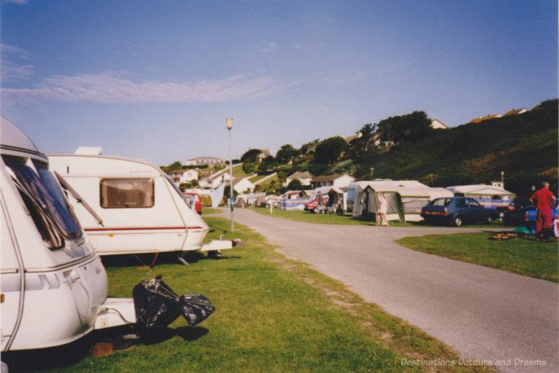 Caravan park in England in the 1990s