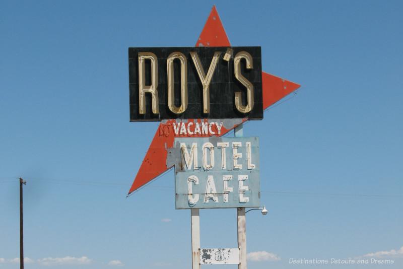 Old Roy motel sign