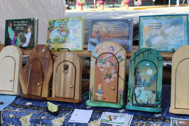 Roger Blunt fairy doors at the Saturday market on Salt Spring Island
