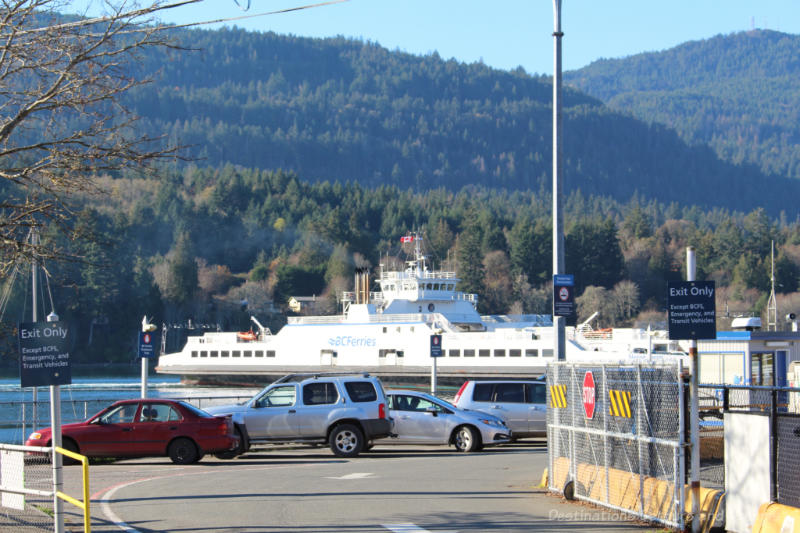 BC Ferry at Fulford Harbour on Salt Spring Island
