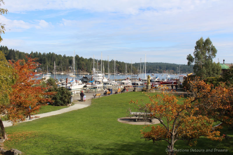 Visiting Salt Spring Island - Ganges Harbour view