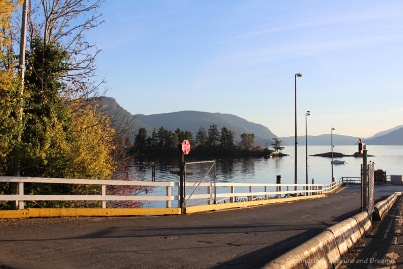 Ferry dock at Vesuvius Bay on Salt Spring Island