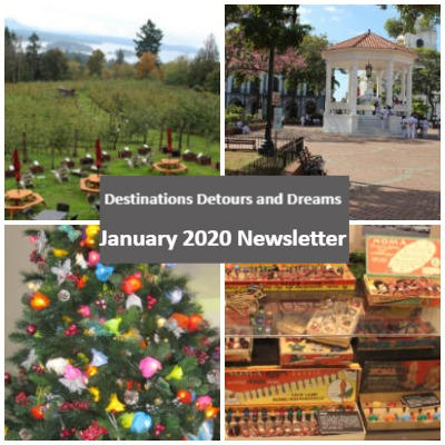 Destinations Detours and Dreams January 2020 Newsletter