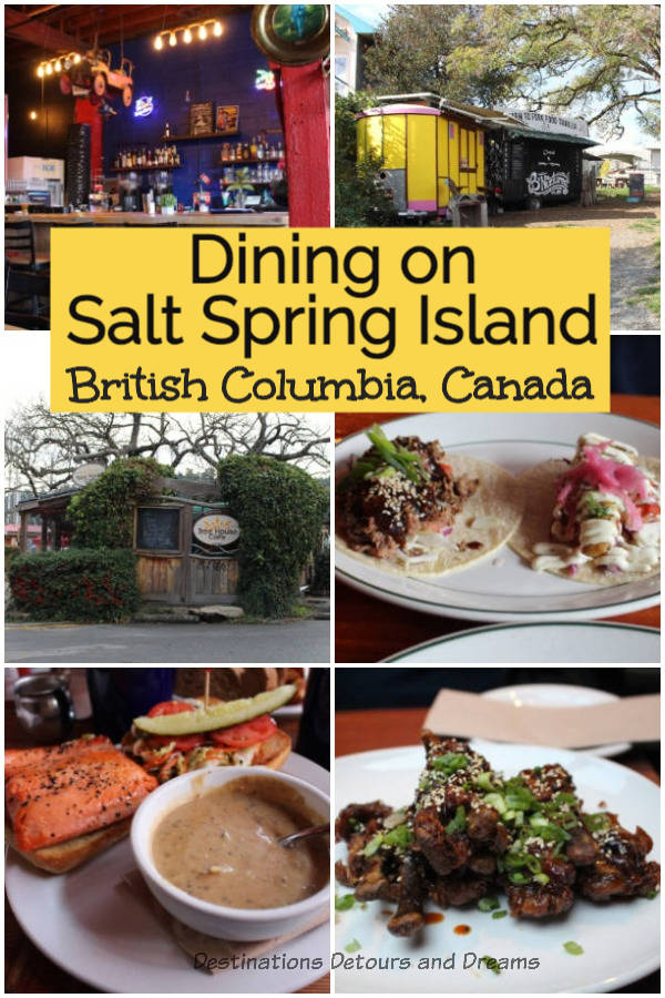 Favourite restaurants and where to eat on Salt Spring Island, British Columbia, Canada #Canada #BritishColumbia #SaltSpringIsland #restaurants
