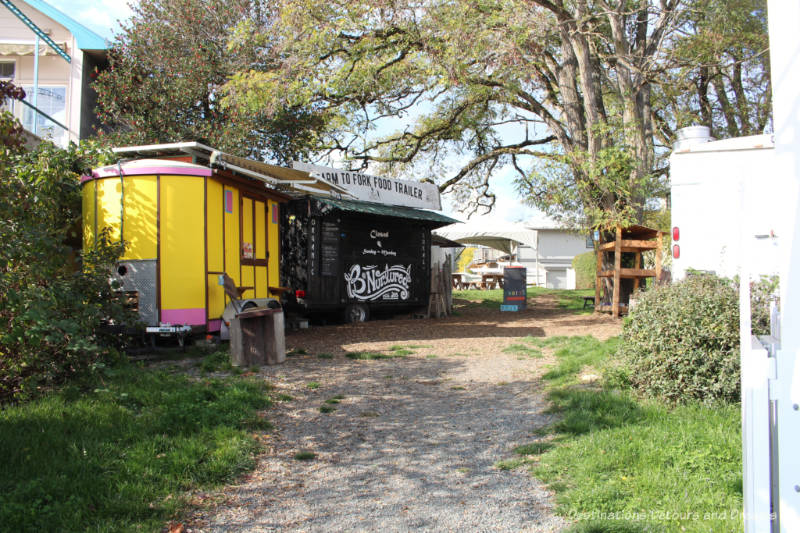 Food trucks at Salt Spring Island Food Garden