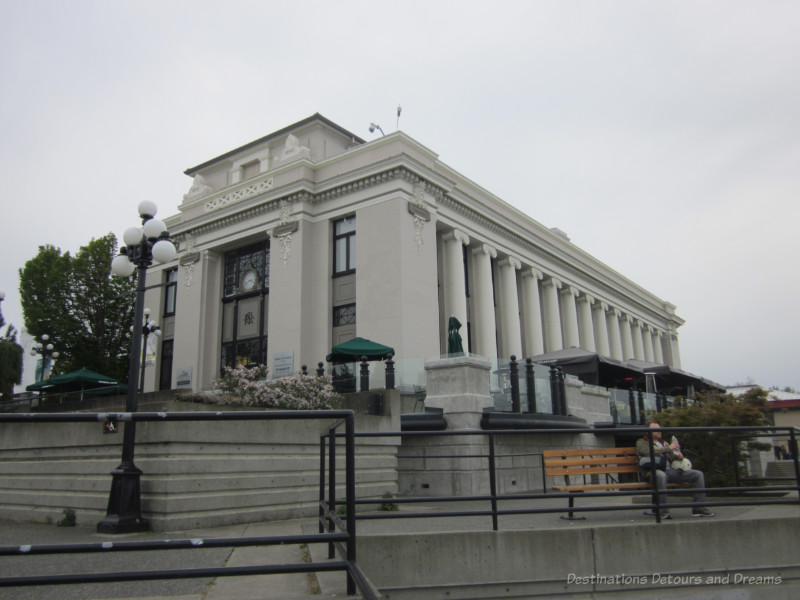 Neo-classical Victoria Steamship Terminal building with massive Ionic columns