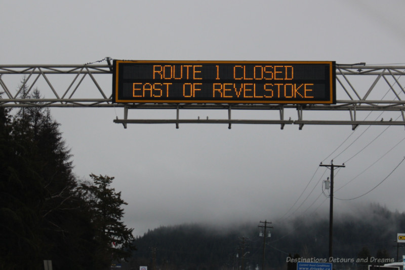 Route Closed Sign