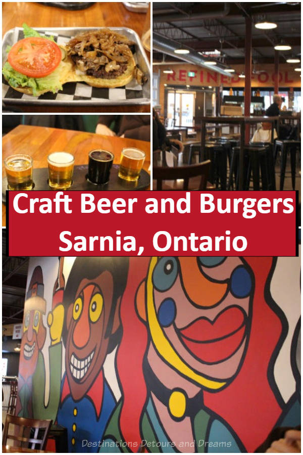 Craft Beer and Burgers in Sarnia, Ontario - Refined Fool craft brewery and Burger Rebellion restaurant in Sarnia, Ontario, Canada #Canada #Ontario #craftbeer #Sarnia