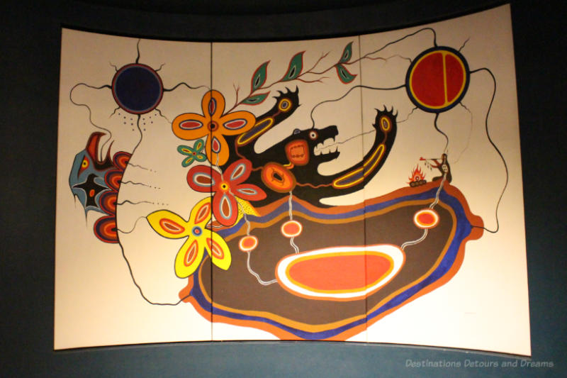 Native art painting by Jackson Beardy reflects interconnectedness of living things