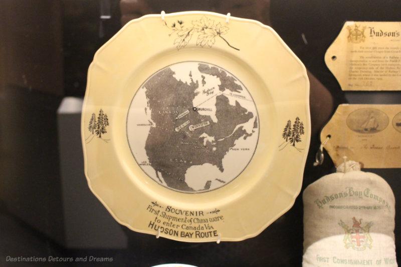 Hudson Bay Route souvenir china plate