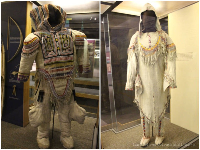 Inuit and Dene traditional costumes