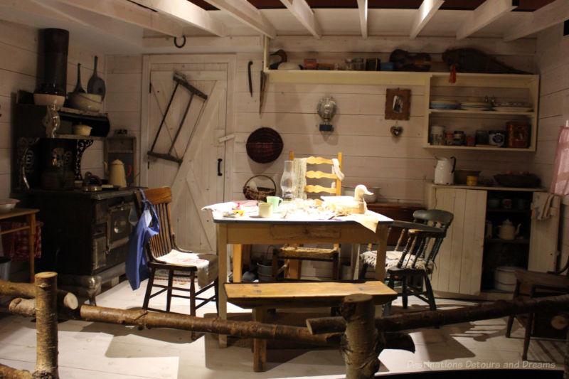 Reconstructed Métis kitchen