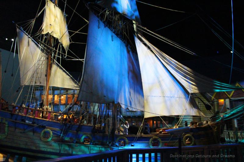 Full-size replica of the 17th century Nonsuch merchant ship