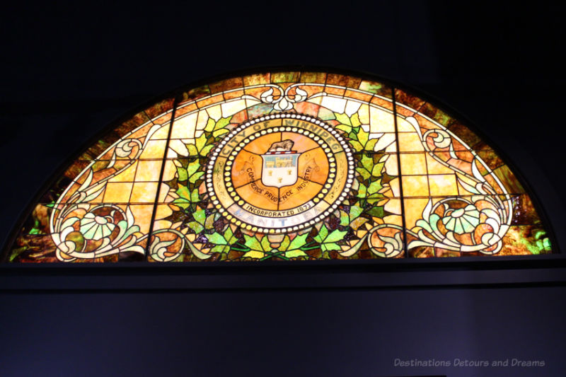 Stained glass window for City of Winnipeg