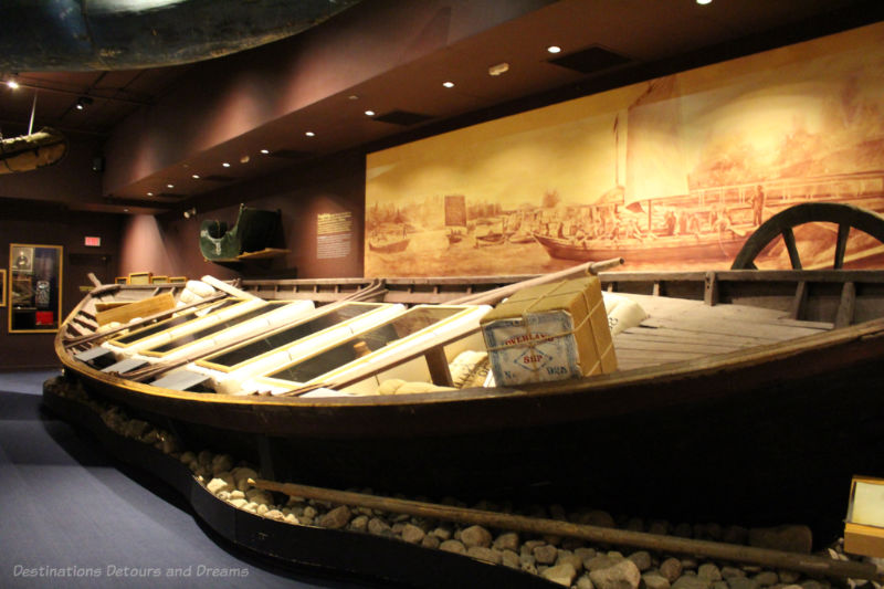 Full-size York boat on display at Manitoba Museum