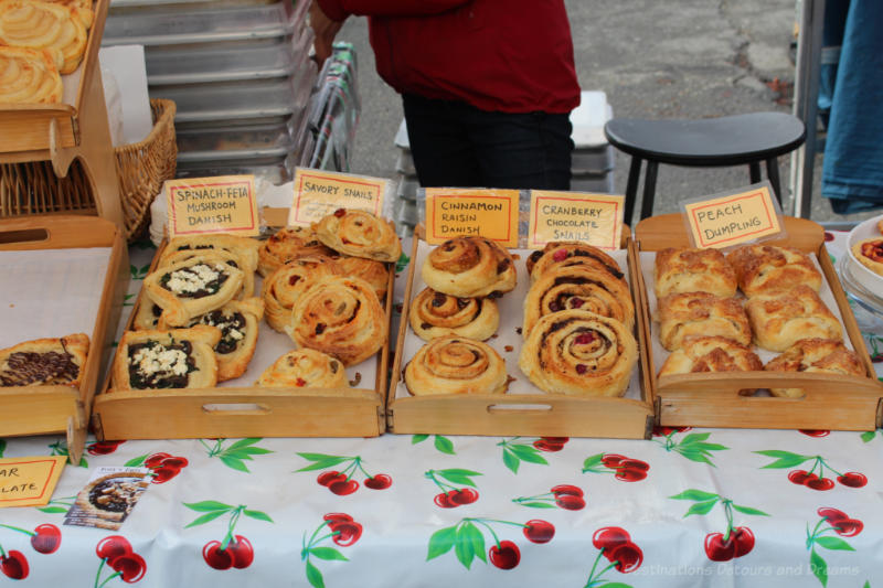 Pastries for sale at Salt Spring Island Saturday Market