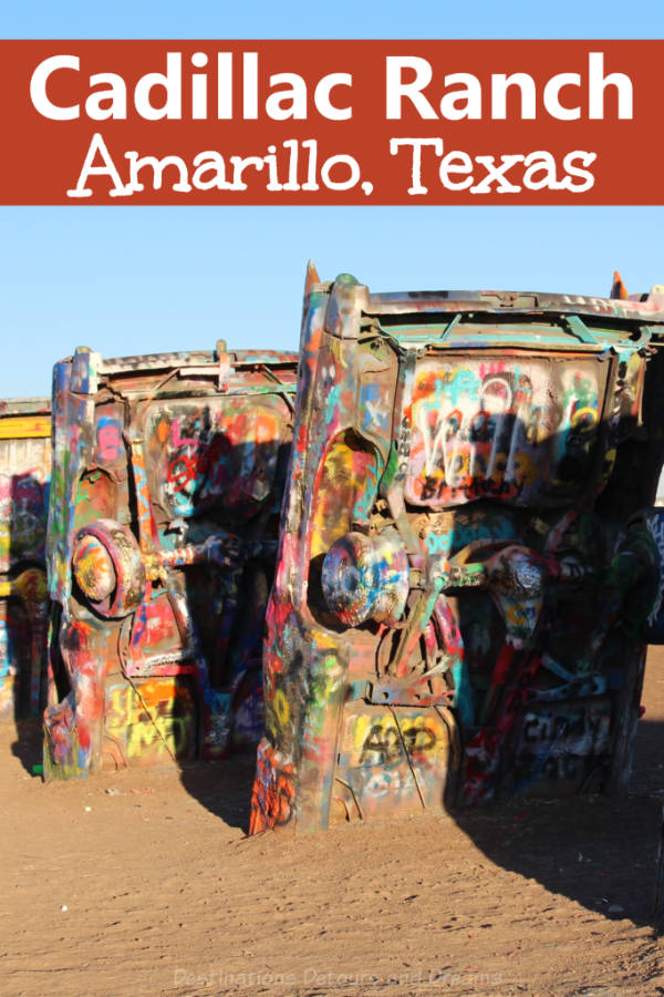 Cadillac Ranch - quirky roadside attraction in Amarillo, Texas #Texas #quirky #roadsideattraction #roadtrip