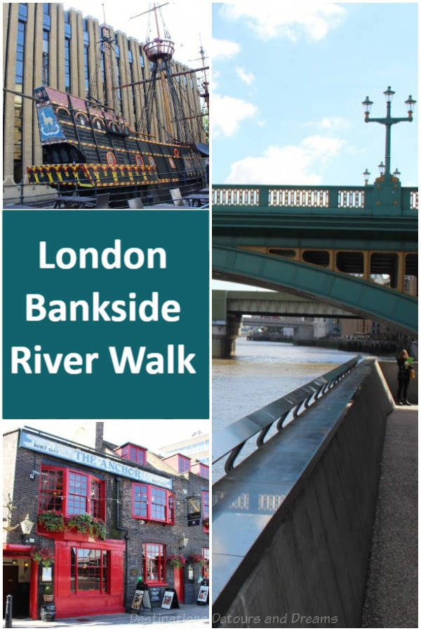 London Bankside River Walk: exploring the history of London on the south side of the Thames #England #London #Bankside #Thameswalk