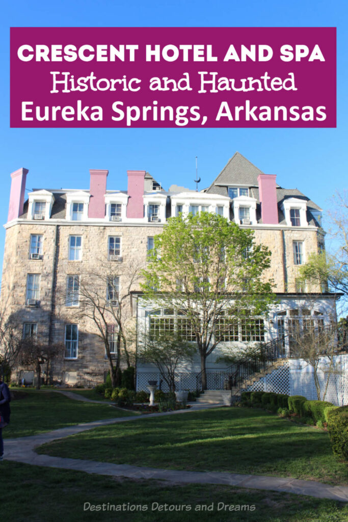 Crescent Hotel and Spa in Eureka Springs, Arkansas: this Historic Hotel of American, sometimes referred to as America's most haunted hotel, is a great place to stay. #Arkansas #EurekaSprings #hauntedhotel #HistoricHotel