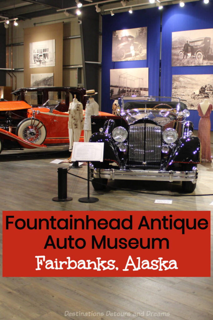 Fountainhead Antique Auto Museum in Fairbanks, Alaska is a top attraction. The museum features innovative and rare antique vehicles and vintage clothing #Alaska #Fairbanks #museum #vintageauto #costume