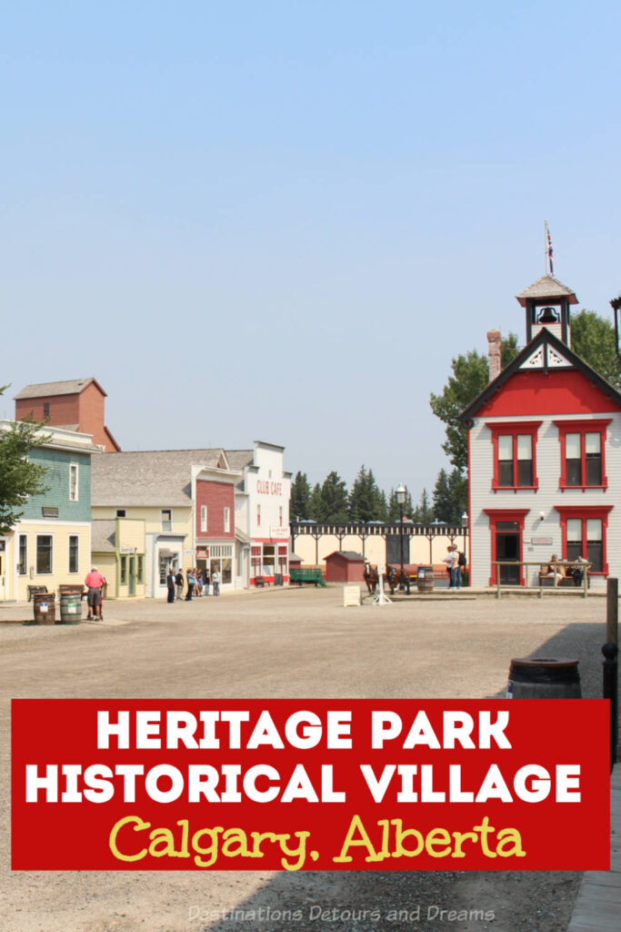 Heritage Park Historical Village in Calgary, Alberta is a village-type museum that brings history to life with historic buildings, working antiques and costumed interpreters. A top Calgary attraction. #Calgary #Alberta #history #touristattraction #Canada #museum