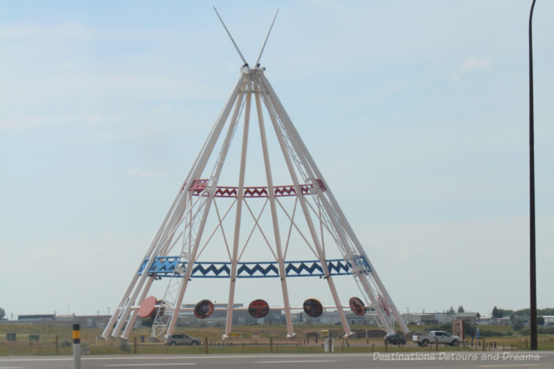 White framed teepee strucuture is the largest teepee in the world