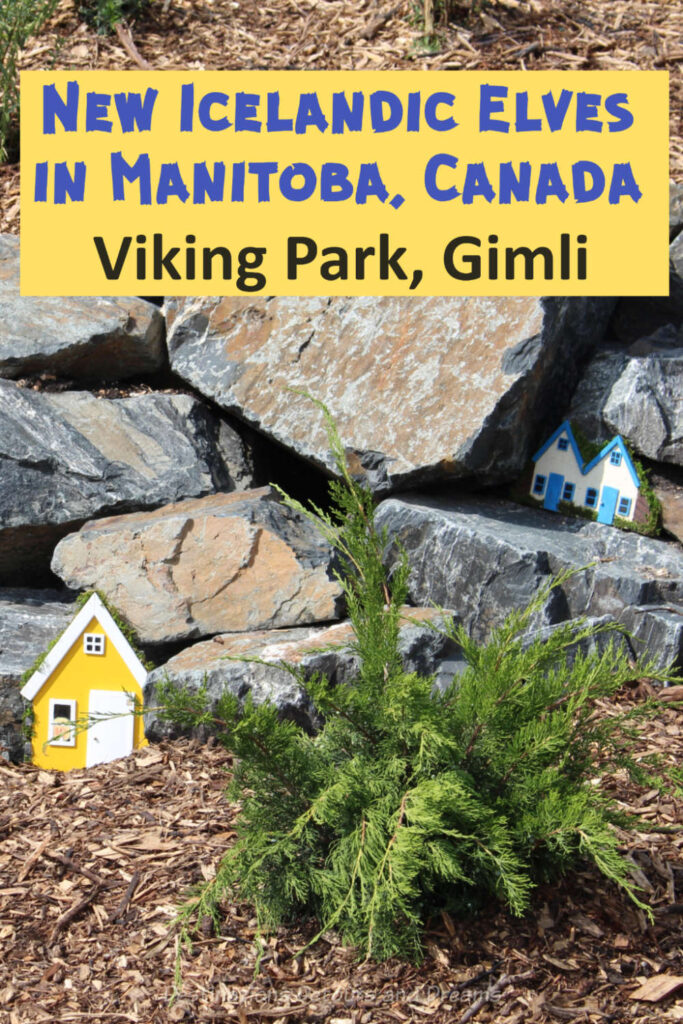 New Icelandic Elves in Manitoba, Canada: Viking Park in Gimli Manitoba, the hear of New Iceland, contains homes for the hidden people. #Canada #Manitoba #Gimli #NewIceland #hiddenpeople