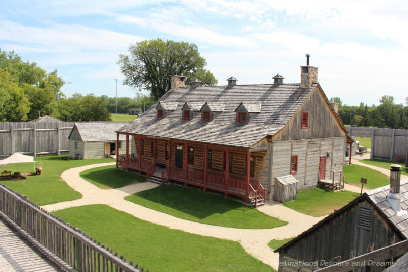 Reconstructed wooden fur trading fort